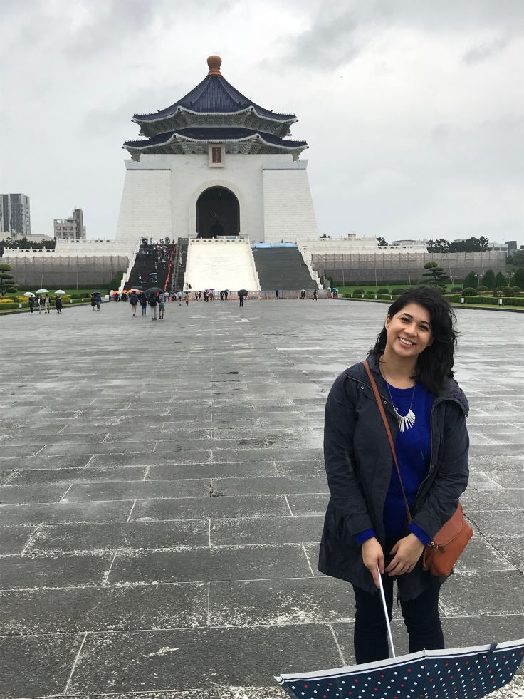 On democracy Road, In front of Chiang Kai-Shek Memorial Hall